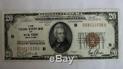 1929 $ 20 Banque Nationale Monnaie De New York Brown Sceau Bu Papier Remarque Argent