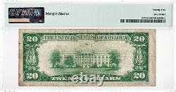 1929 $20 Dallas Texas Tx Frb Federal Reserve Bank Note Brown National Currency