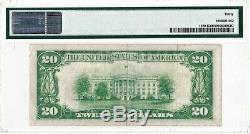 1929 $ 20 Dallas Tx Texas Federal Reserve Bank Note Brown Monnaie Nationale Key