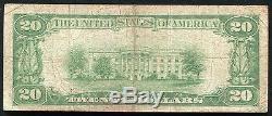 1929 20 $ Grand Rapids Banque Nationale Grand Rapids, MI Monnaie Nationale Ch. # 3293