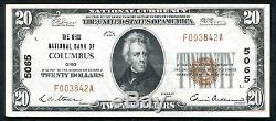 1929 20 $ La Banque Nationale De L'ohio, Oh, Monnaie Nationale, Ch. # 5065