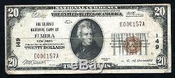 1929 20 $ La Deuxième Banque Nationale D'elmira, Ny Monnaie Nationale Ch. # 149