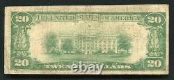1929 20 $ La Première Banque Nationale De Dixon, Ca Monnaie Nationale Ch. #10120 Rare