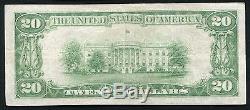 1929 20 $ La Première Banque Nationale De Freeport, IL Monnaie Nationale Ch. # 2875