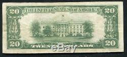 1929 20 $ La Première Banque Nationale De Greenville, Al Monnaie Nationale Ch. # 5572