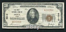 1929 20 $ La Première Banque Nationale De Price, Ut Monnaie Nationale Ch. # 6012