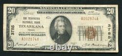 1929 $20 La Texarkana National Bank Texarkana, Tx National Currency Ch. #3785
