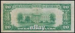 1929 20 $ Monnaie Nationale Amer. Nat. Banque & Trust Co. Eau Claire, Wi Ch. # 13645