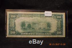 1929 20 $ Monnaie Nationale Jackson, Bank Of Chicago, Jones-woods. # 1423