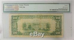 1929 $ 20 National Currency Bank Of Houlton Maine 2749 Pmg Certifié Vf 20