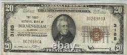 1929$20 National Currencyfirst National Bank Of Birmingham, Alxf