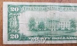 1929 20 $ Première Note De La Monnaie Nationale Du Missouri De La Banque Nationale Du Mexique
