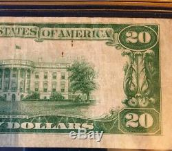 1929 20 $ Reserve Bank Monnaie Nationale Fédérale De New York Ny. Jones / Bois