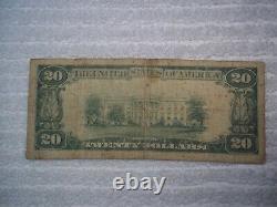 1929 20 $ Stanton Nebraska Ne Monnaie Nationale T1 # 7836 Stanton Banque Nationale #