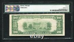 1929 20 $ The Derry National Bank Derry, Nh National Currency Ch. #499 Pmg Vf-30