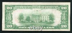 1929 $20 The State National Bank Of Texarkana, Ar National Currency Ch. #7138 Xf