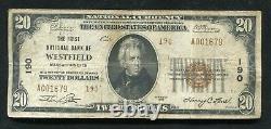 1929 20 $ Tyii La 1ère Banque Nationale De Westfield, Ma Monnaie Nationale Ch. N°190