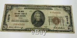 1929 $ 20 Type 1 Etat Banque Nationale De Houston, Texas Monnaie Nationale