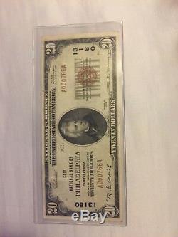 1929 20 Usd En Monnaie Nationale Réserve Fédérale Américaine Chicago High Grade