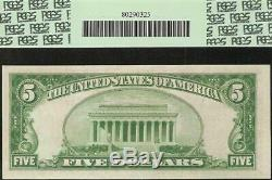 1929 5 $ Dollar Bill Bank Kansas Réserve Fédérale Note Monnaie Nationale Gpc 64