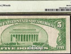 1929 $ 5 Dollar Bill Honolulu Hawaii Bishop National Bank Note Devise Pmg