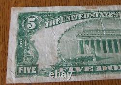 1929 5 Dollar La Floride Banque Nationale De Devises Jacksonville