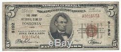 1929 $ 5 Fostoria, Oh Banque Nationale Monnaie Note Bill Ch. # 9192 Type De Fin 1 Ohio