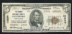 1929 $ 5 La Banque Nationale Des Mineurs De Nanticoke, Pa National Currency Ch. # 13524