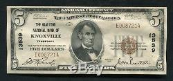 1929 $ 5 La Banque Nationale Hamilton De Knoxville, Tn Monnaie Nationale Ch # 13539