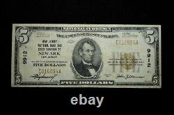 1929 $5 Monnaie Nationale #9912 New Jersey National Bank & Trust Company Newark