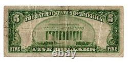 1929 $5 The Union National Bank Of Charlotte, Monnaie Nationale De Caroline Du Nord