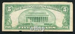 1929 5 $ Tyii Oilfields National Bank À Brea, Ca Monnaie Nationale Ch. # 13877 Xf