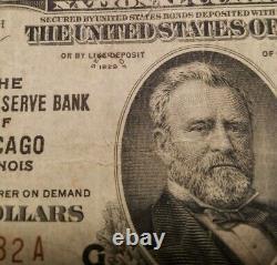 1929 50 $ Banque Nationale Note De Chicago Illinois États-unis Monnaie