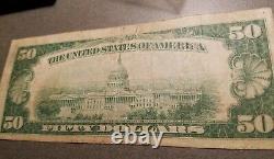 1929 $50 Billet De Banque Nationale De Chicago Illinois Devise Des États-unis