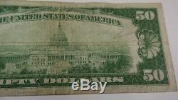1929: 50 Dollars De La Réserve Fédérale Américaine À New York, Ny. Rare Us National Currency Error