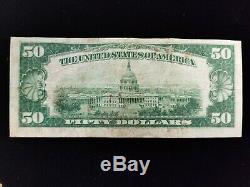 1929 $ 50 Fifty Dollar Bill Banque Nationale Monnaie De La Réserve Fédérale De San Fran Ca