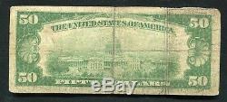 1929 50 $ La Première Banque Nationale De San Antonio, Tx National Currency Ch. # 5179