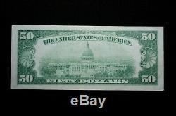 1929 $ 50 Monnaie Nationale La Banque De La Réserve Fédérale De San Francisco (otx204)