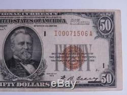1929 $ 50 Monnaie Nationale Réserve Fédérale Banque De Minneapolis Minnesota