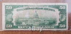 1929 $ 50 Pcgs Marchands Banque Nationale Cedar Rapids Iowa National Currency Note