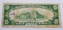 1929 Banque Nationale De Waterloo Iowa 10 $ Billet Monnaie Nationale #13702 T2