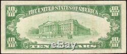 1929 Billet De 10 Dollars Us Pasadena California National Bank Billet De Monnaie Monnaie 10167