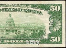 1929 Billet De 50 Dollars Peoria Illinois Banque Nationale Billet De Monnaie En Papier