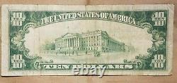 1929 Federal Reserve Bank Of New York $10 Brown Seal National Currency Star Note
