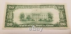 1929 First National Bank Of Hampton Iowa 20 $ Note Monnaie Nationale # 13842 T2
