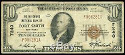 1929 Fort Smith Arkansas, Billet De Banque De 10 $ En Monnaie Nationale, Ch. # 7240