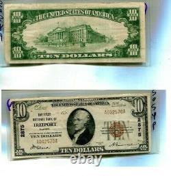 1929 Freeport Illinois $10 First National Bank Devise Note Vf 5054p