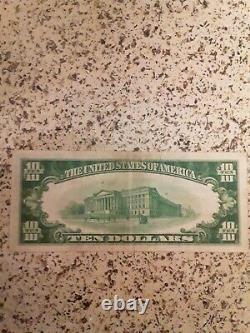 1929 Kalamazoo $10 Type 2 National Bank Note Currency Michigan