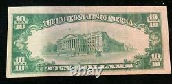 1929 La Première Banque Nationale De Montoursville Pa $10 Monnaie Nationale