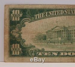 1929 - La Première Banque Nationale De Salem, Oh, 10 $ Monnaie Nationale - T2 N ° 43 N ° 641z